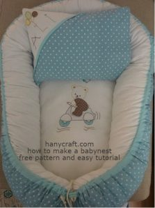 babynest bed sewing
